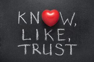 Know, like, trust factor opbouwen
